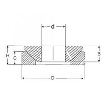 50 mm x 130 mm x 33,5 mm  SIGMA GE 50 AX Rolamentos simples