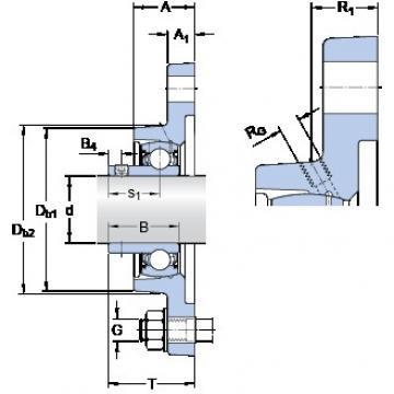 SKF FYT 1.11/16 RM Unidades de rolamento