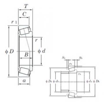 23,812 mm x 50,292 mm x 14,732 mm  KOYO L44640R/L44610 Rolamentos de rolos gravados