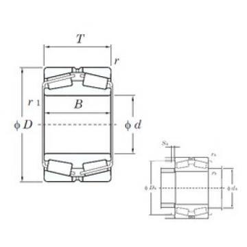 100 mm x 165 mm x 52 mm  KOYO 45320 Rolamentos de rolos gravados